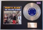 "THE ROLLING STONES  - 7"" Platinum Disc + cover - PAINT IT BLACK"